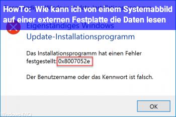 HowTo Wie kann ich von einem Systemabbild auf einer externen Festplatte die Daten lesen ?