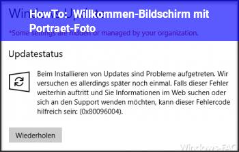 HowTo Willkommen-Bildschirm mit Porträt-Foto
