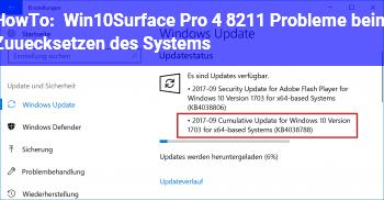 HowTo Win10/Surface Pro 4 – Probleme beim Zuücksetzen des Systems