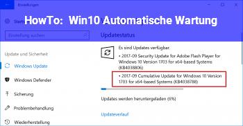 HowTo Win10 Automatische Wartung
