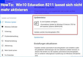 HowTo Win10 Education – lässt sich nicht mehr aktivieren