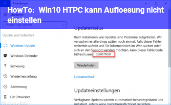 HowTo Win10 HTPC kann Auflösung nicht einstellen