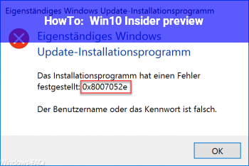 HowTo Win10 Insider preview