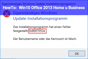 HowTo Win10 Office 2013 Home u. Business