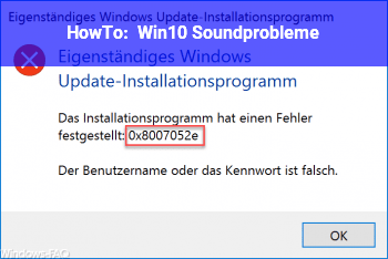HowTo Win10 Soundprobleme