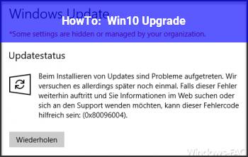 HowTo Win10 Upgrade