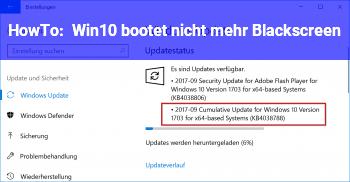 HowTo Win10 bootet nicht mehr, Blackscreen