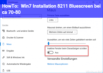 HowTo Win.7 Installation – Bluescreen bei ca. 70-80%