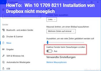 HowTo Win 10 1709 – Installation von Dropbox nicht möglich