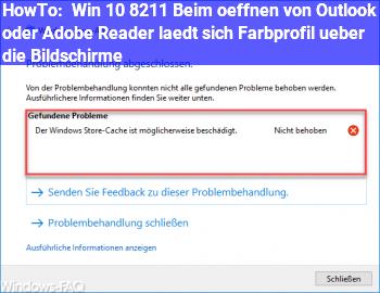 HowTo Win 10 – Beim öffnen von Outlook oder Adobe Reader lädt sich Farbprofil über die Bildschirme