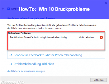 HowTo Win 10 Druckprobleme