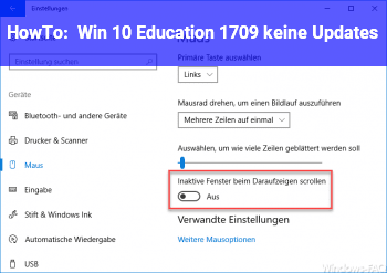 HowTo Win 10 Education 1709 keine Updates
