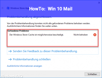 HowTo Win 10 Mail