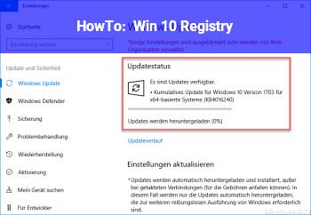 HowTo Win 10 Registry