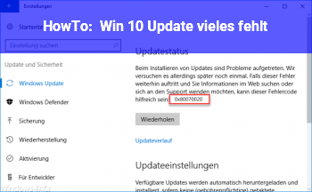 HowTo Win 10 Update vieles fehlt