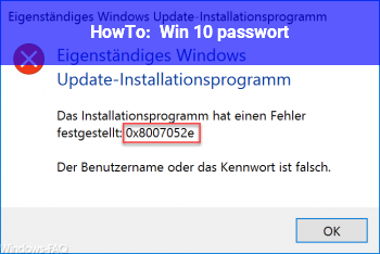 HowTo Win 10 passwort