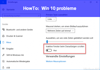 HowTo Win 10 probleme