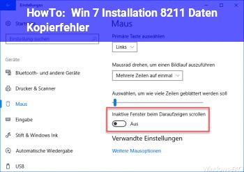 HowTo Win 7 Installation – Daten Kopierfehler