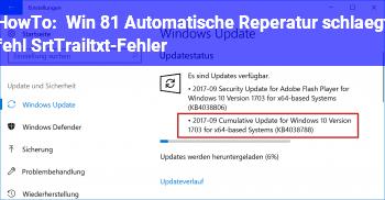 HowTo Win 8.1: Automatische Reperatur schlägt fehl: SrtTrail.txt-Fehler