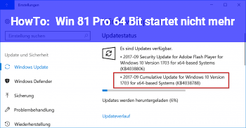HowTo Win 8.1 Pro 64 Bit startet nicht mehr