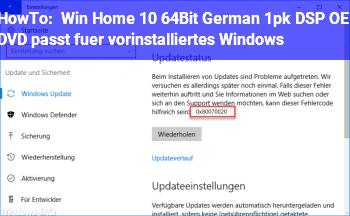 """HowTo """"Win Home 10 64Bit German 1pk DSP OEI DVD"""" passt für vorinstalliertes Windows?"""