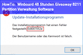 HowTo Winboard: 48 Stunden Giveaway – Partition Verwaltung Software