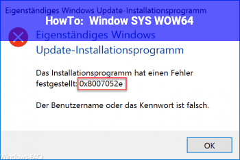 HowTo Window SYS WOW64