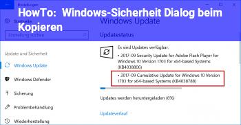 HowTo Windows-Sicherheit Dialog beim Kopieren
