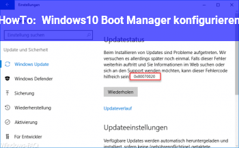 HowTo Windows10 Boot Manager: konfigurieren?