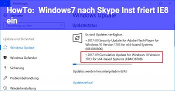 HowTo Windows7, nach Skype Inst. friert IE8 ein!?