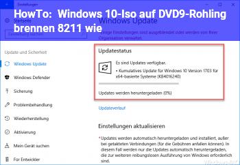 HowTo Windows 10-Iso auf DVD9-Rohling brennen – wie?