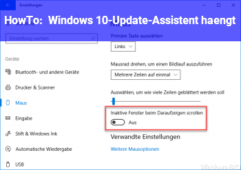 HowTo Windows 10-Update-Assistent hängt