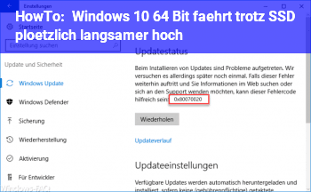 HowTo Windows 10 64 Bit fährt trotz SSD plötzlich langsamer hoch