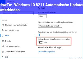 HowTo Windows 10 – Automatische Updates unterbinden