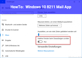 HowTo Windows 10 – Mail App