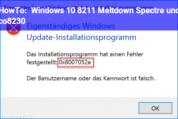 HowTo Windows 10 – Meltdown, Spectre und co…