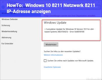 HowTo Windows 10 – Netzwerk – IP-Adresse anzeigen