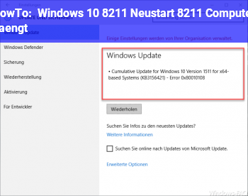 HowTo Windows 10 – Neustart – Computer hängt