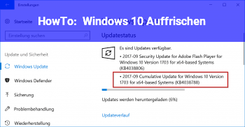 HowTo Windows 10 Auffrischen