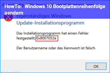 HowTo Windows 10 Bootplattenreihenfolge ändern