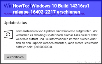 HowTo Windows 10 Build 14316.rs1_release-16402-2217 erschienen