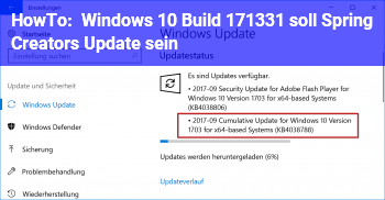 HowTo Windows 10: Build 17133.1 soll Spring Creators Update sein