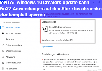 HowTo Windows 10 Creators Update kann Win32-Anwendungen auf den Store beschränken oder komplett sperren
