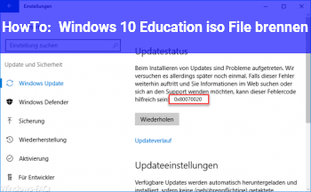 HowTo Windows 10 Education iso File brennen