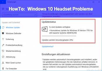 HowTo Windows 10 Headset Probleme
