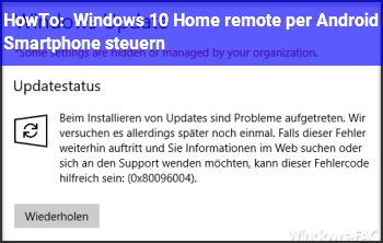 HowTo Windows 10 Home remote per Android Smartphone steuern