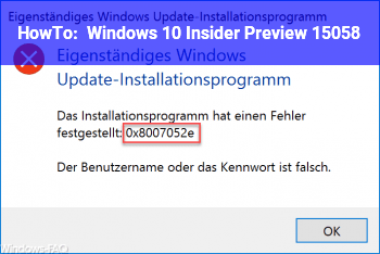 HowTo Windows 10 Insider Preview 15058