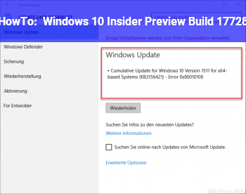 HowTo Windows 10 Insider Preview Build 17728