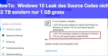 HowTo Windows 10: Leak des Source Codes nicht 32 TB sondern nur 1 GB groß