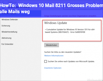 HowTo Windows 10 Mail – Großes Problem, alle Mails weg